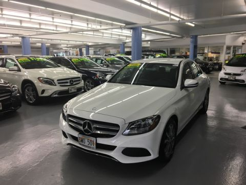 Pre-Owned 2016 Mercedes-Benz C-Class C300 Rear Wheel Drive Sedan